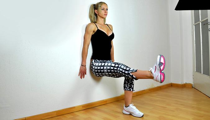 Wall Sits Exercise Workout Your Quads With This Great