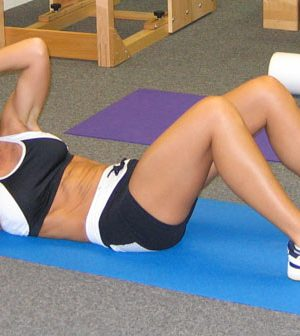 Women doing crunches